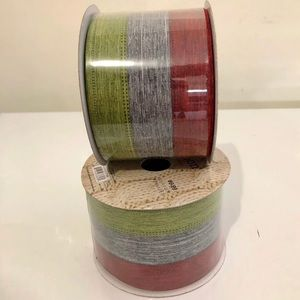 (#RBCH15) TWO SPOOLS OF CHRISTMAS RIBBON